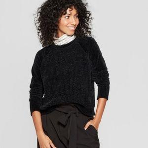 Black Chenille Pullover Sweater